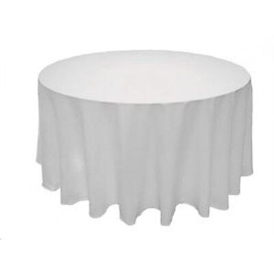90 in. round Polyester Seamless Tablecloth~Wedding~NEW