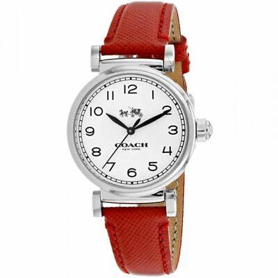 Coach Women's Madison Analog Dress Leather Band Watch 32mm 14502407 $225 Jewelry & Watches