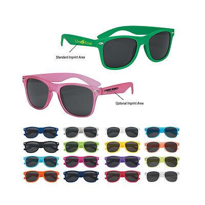 100 Personalized Matte Sunglasses, Bulk Promotional Products,Wedding Party Favor - Wedding Sunglasses Bulk