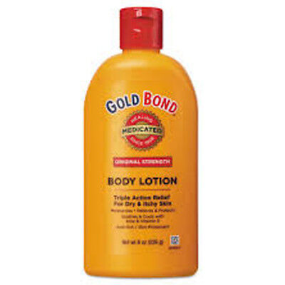 Gold Bond Original Strength Medicated Body Lotion, 8 oz Bottle (Gold Bond Medicated Body Lotion)