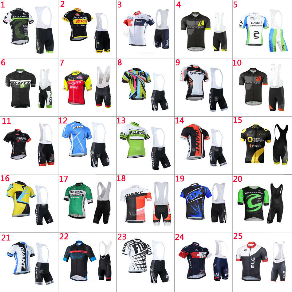 Classic Style Mens Cycling Short Sleeve Jerseys & Bib Shorts