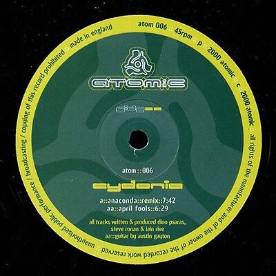 Cydonia Anaconda Remix - April Fools 12 Inch Vinyl Atomic Records Psytrance 2000