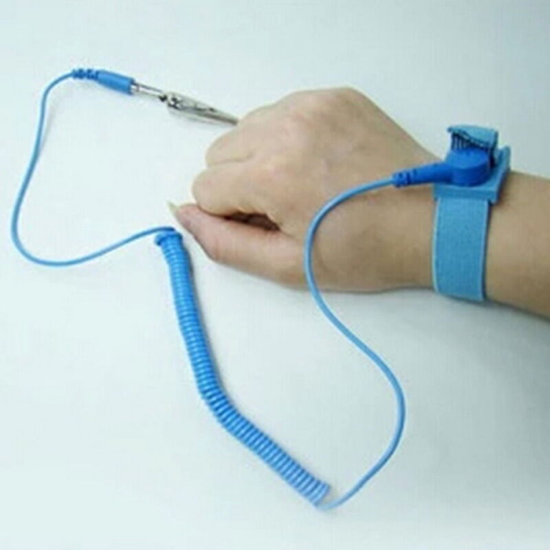 Anti-Static Electricity Grounding Wristband Wrist Strap Flexible Coiling Strap