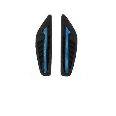 2 X BLACK RUBBER DOOR MIRROR GUARD PROTECTORS BLUE INSERT DG2 MOTORB