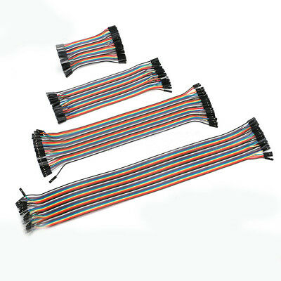 40p Dupont Cable Wire Rainbow Ribbon Jumper Female To Femalemale 10cm-40cm
