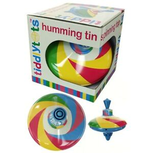RAINBOW TIN SPINNING HUMMING TOP - 213298 CLASSIC TRADITIONAL TOY KIDS PLAY FUN