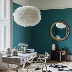 Graham & Green White Feather Pendant Shade - £200