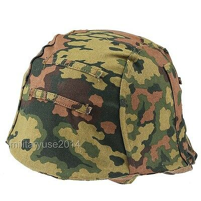 WWII German M35 Reversible Helmet Cover Color Spring And Fall Oak Camo, used for sale  Shipping to Canada