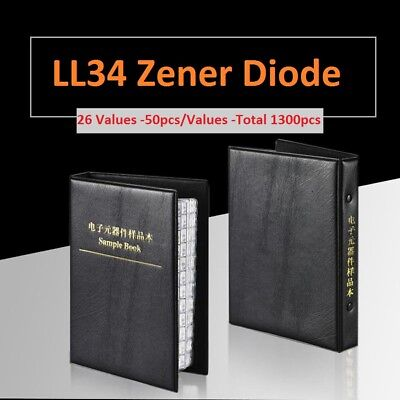 0.5w 1206ll34 Series Smd Zener Diode Samples Book Assorted Kit Component