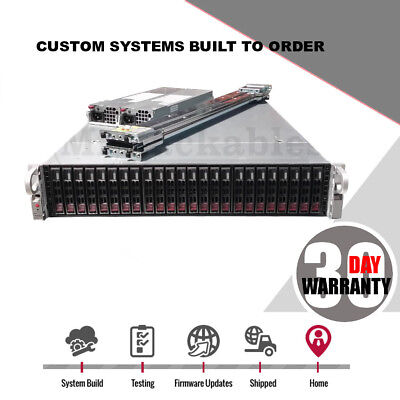 Supermicro 2U X8DTU-F 24 bay 2x Xeon 6 Core Low Power FreeNas SAS2 SSD SATA III