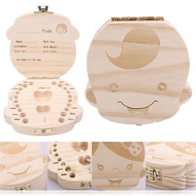 как выглядит Kid Baby Keepsake Wood Tooth Fairy Case Save Milk Teeth Organizer Storage Box фото