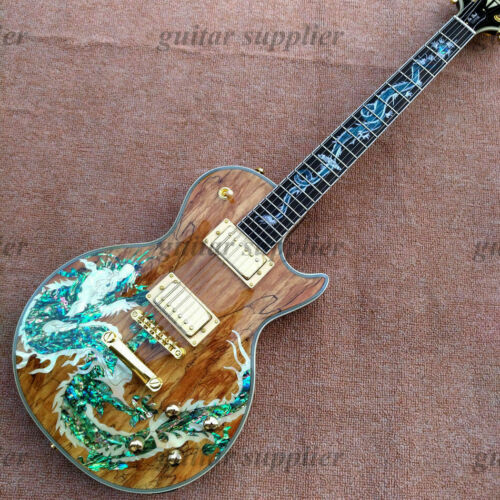 Custom Abalone Dragon Inlay LP Electric Guitar FREE SHIPPING