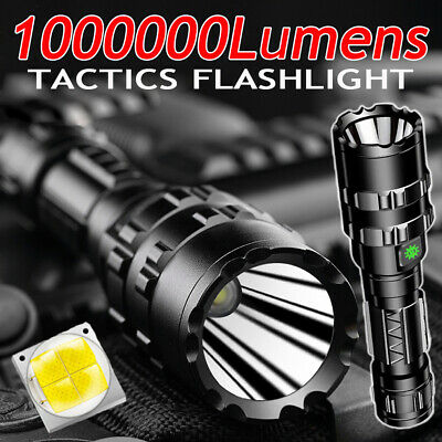 1000000Lumen Tactics Flashlight High Power Flashlight Coyote Hunting LED Camping