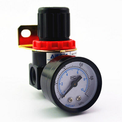 Air Control Compressor Pressure Gauge Relief Regulating Regulator Valve AR2000