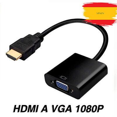 Conversor Cable Adaptador de HDMI Macho a VGA Hembra - HDMI to...