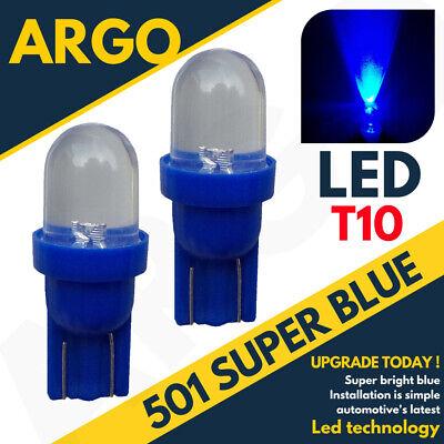 501 LED Azul Bombillas Interior Hielo Xenon T10 W5w 194 Cuña Luz...