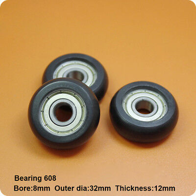 2pcs Circular Nylon Plastic Pulley Bearings With Embedded 608zz Size 83212mm