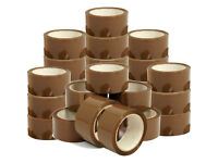6Pcs Brown Tape Parcel Packing Packaging Sellotape Box Sealing 48MM x 66M Rolls