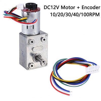 Dc12v High Torque Turbo Worm Geared Reduction Motor 10203040100rpm Encoder