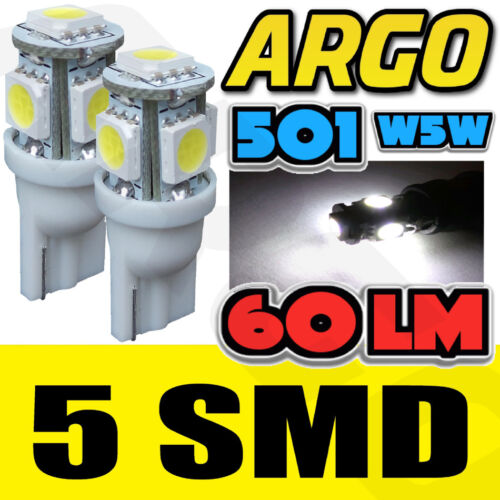 5 SMD LED XENON WHITE 501 T10 W5W SIDELIGHT BULBS LEXUS GS450H