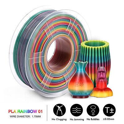 SUNLU 3D Printer Filament PLA Rainbow 1.75mm 1KG/2.2LB Spool Multiple colour