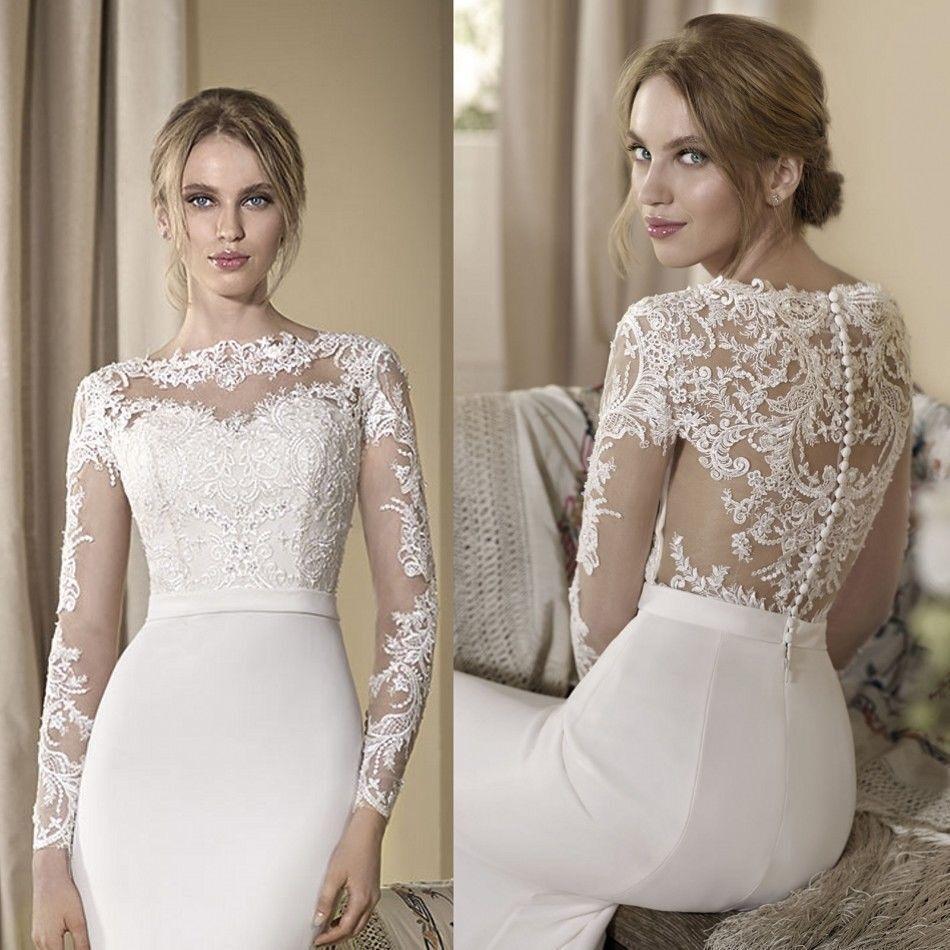 White Wedding Dress Jacket: Lace Wedding Jackets Elegant White/Ivory Long Sleeve