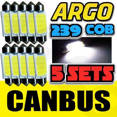 LED 239 38MM BRIGHT WHITE NUMBER PLATE INTERIOR LIGHT FESTOON BULB 10 PACK