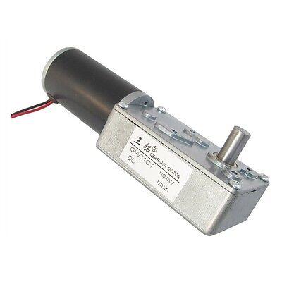 Dc 12v 2rpm 1.5a 40kg.cm High Torque 8mm Shaft Worm Gear Reducer Motor Gw31ct