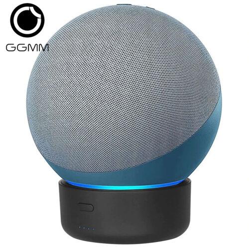 GGMM E4 Portable Battery Base For Amazon Echo 4, 10Ah Rechargable DockStation