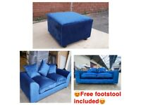 Brand new 3+2 plush velvet sofa set with free matching footstool included 😍🔥✅