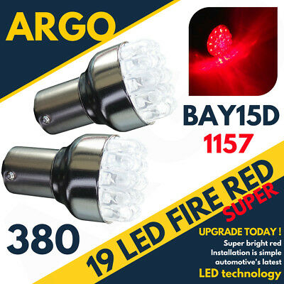 2x 19 Led Rear Back Stop Brake Tail Light Lamp Bulbs 380 1157 Bay15d P21/5w](Red Contact Lenses Cheap)