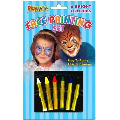Face Painting Set - 6 Bright Colours - Perfect for Halloween Theatre Fancy - Face Painting For Halloween