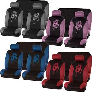 universal car seat cover set style grey black washable pink blue ebay