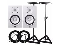 Yamaha HS7 active studio monitors+stands+cables +5 year extended warranty