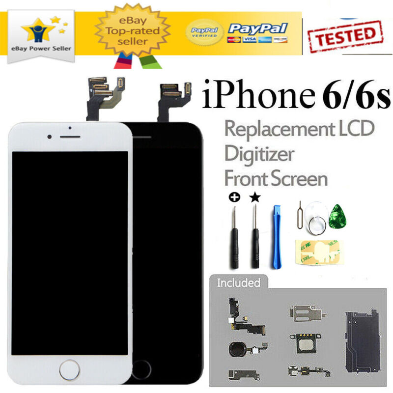 Home Button & Camera LCD Display For iPhone 6S 6 Screen Replacement Full Sets