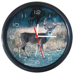 Whitetail Buck Deer Animal Design Mordern Art Round Wall Clock