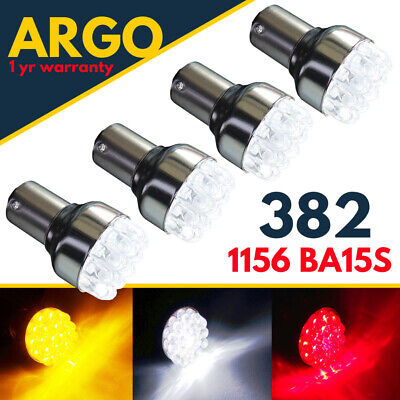 Car Parts - Ba15s 382 1156 Led White Bayonet Stop Brake Tail Light Fog Reverse Indicator 12v