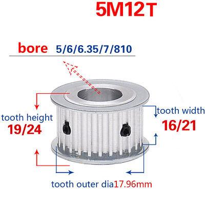 Htd-5m-12t-1621w Timing Belt Drive Pulley Gear Bore 566.357810mm 12t