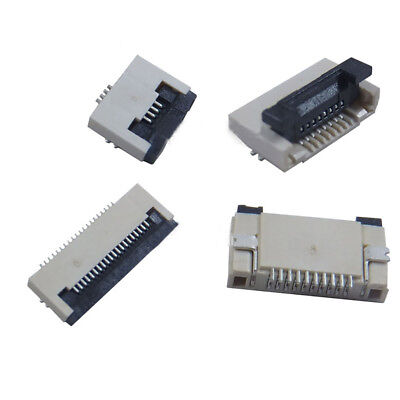 FPC/FFC Flat Cable Connector Pitch 0.5mm 4/5/6/8P-60P Clamshell Bottom Contact