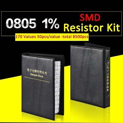 8500pcs 0805 Smdsmt 1 Resistor Samples Book Assorted Kit Component 170 Values