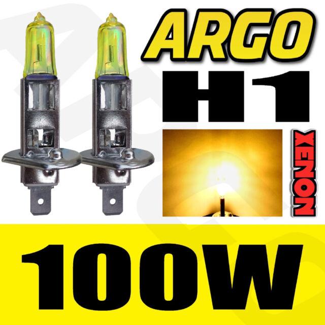 2 X PEUGEOT 306 307 H1 100W SUPER YELLOW HALOGEN HIGH/LOW/FOG LIGHT BULBS