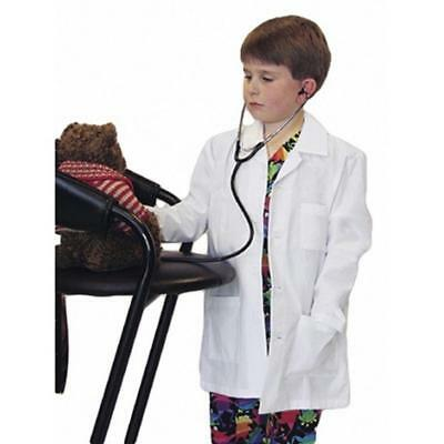 Kids Doctor Coat (Kids White Lab Coat Doctor Hospital Scientist School Fancy Dress Costume)