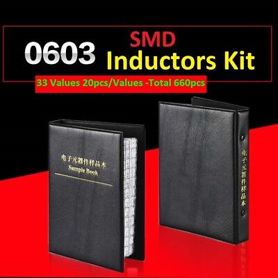 0603 Smdsmt Lqw18 Components Samples Book Inductors Assorted Kit 33 Values
