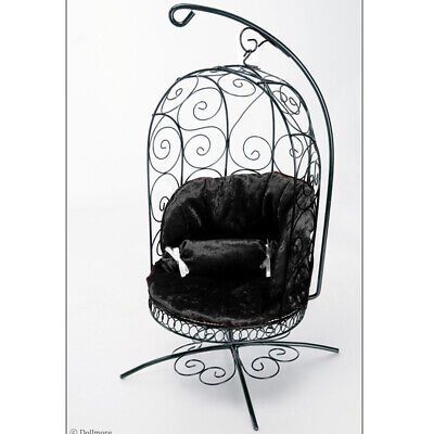 Black 1//6 Scale Cushion For Bird Cage Style Iron Chair YoSD  Cushion only