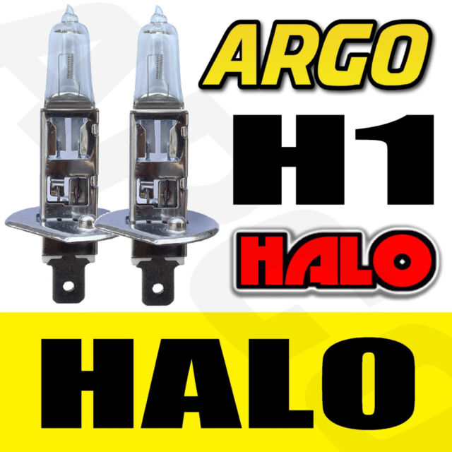 2X H1 55W SUPER CLEAR HALOGEN (448) HEAD LIGHT BULBS 12V ULTRA BRIGHT BULBS HID