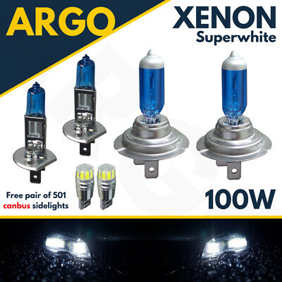 Volvo XC90 H7 501 100w Super White Xenon HID Low//Canbus LED Side Light Bulbs Set