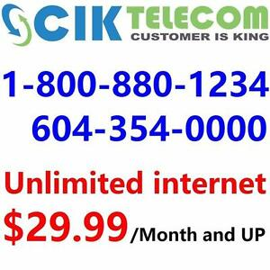 Free Wireless Router for 15M Unlimited internet starting $30/month ,or 30M for $40/month, No contract, $30 installation