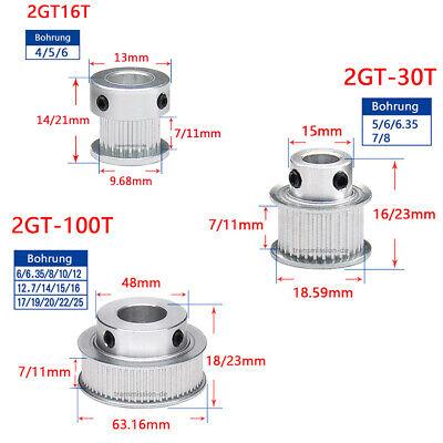16-100 Zähne GT2 Zahnrad 2GT Riemenscheibe Breite 11mm Pulley für 3D Drucker CNC online kaufen