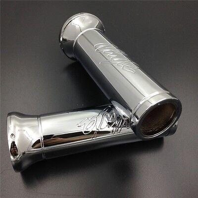 Billet Handlebar Grips Fit Kawasaki Ninja 250 500 600 636 Zx Chrome 7/8''Inch