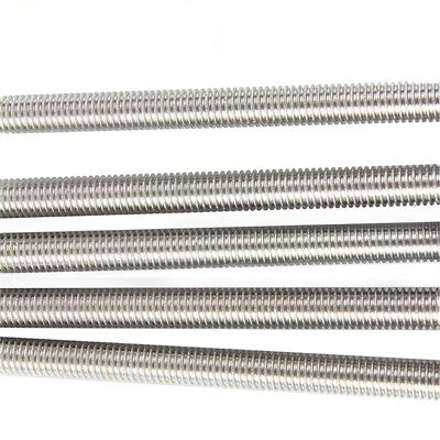 M2-M20 A2 304 Stainless Steel All Thread Threaded Rod Bar Studs Length 250/500mm